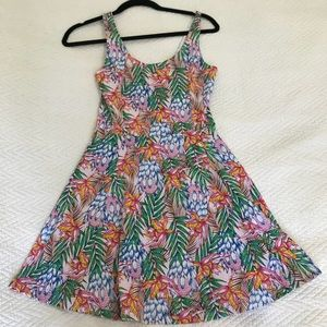 Tropical Baby Doll Dress